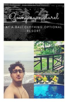 On my recent trip to #Bali, I decided to spend three days at a clothing optional resort and two days at a gay nudist hotel.  In this blog I tell you all about Going au Naturel at a Clothing Optional Resort in Bali for the First Time.  #gaytravel #queertravel #balitravel #nudisthotel