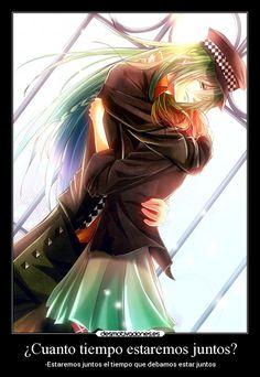 carteles amor anime amnesia ukyo heroine abrazo desmotivaciones