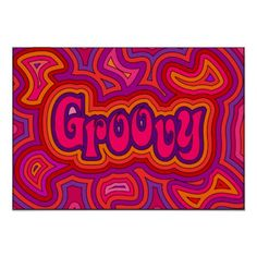 Print with the word 'groovy' with offset psychedelic swirls. This print is available in many sizes, finishes and also framed. The choice is yours! Easy Canvas Art, Simple Canvas Paintings, Small Canvas Art, Mini Canvas Art, Cool Paintings, Hippie Painting, Trippy Painting, Painting & Drawing, Alien Painting