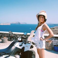 We travel not to escape life, but for life not to escape us. Drove away on our quad bikes to escape the tourists and explore the south of Santorini