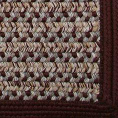 Thorndike Mills Town Crier Burgundy Indoor/Outdoor Rug Rug Size: Square 8'