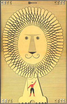"carmelitalikes: "" "" Moscow circus poster, Mark Levin, 1968. "" Thank You midcenturia """