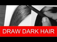HOW TO DRAW Dark Hair Quick and Easy   Realistic Drawing Tutorial - YouTube