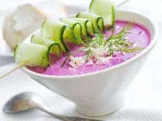 Soupe de betteraves et concombre à la menthe - Recette de cuisine Marmiton : une recette