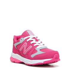 New Balance Kids' KJ888 Medium/Wide/X-Wide Running Shoe Grade School Shoes (Pink/Grey Leather) - 5.5 M