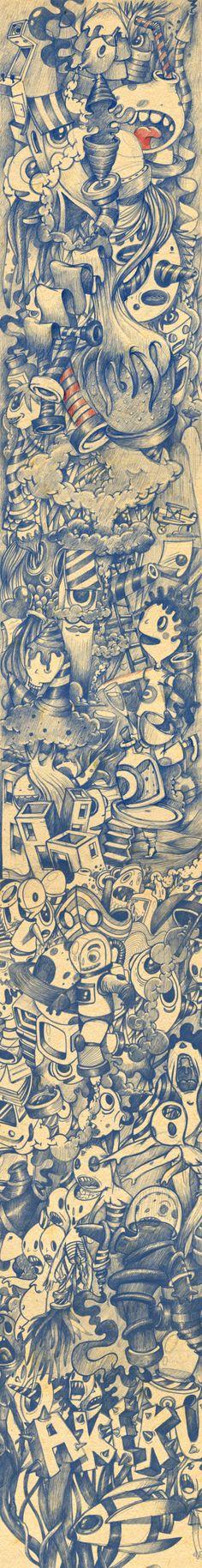 Long long long sketch by oscar llorens, via Behance
