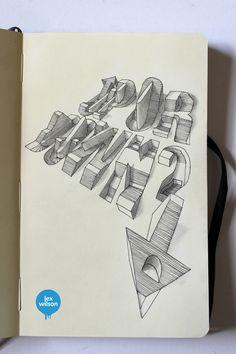 Moleskine Illustrations by Lex Wilson, via Behance