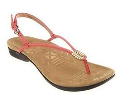 4f5bac437522 Weil by Orthaheel Accomplish Orthotic Leather Sandals Plantar Fasciitis