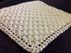 Free Knitting Pattern for Grandmothers Waffle Washcloth/Blanket - Diagonal waffle stitch created by making increases and then decreases at row ends. Designed by Rachelle Corry. - Crochet and Knit Knitted Washcloth Patterns, Knitted Washcloths, Dishcloth Knitting Patterns, Crochet Dishcloths, Knit Or Crochet, Loom Knitting, Knitting Stitches, Crochet Crafts, Free Knitting