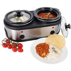 1.5L Double Slow Cooker (For Casseroles, Mash, Curries and Rice etc).