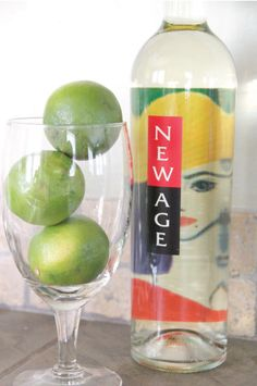 New Age White Wine + Ice + Lime Juice = Delicious Summer Drink!