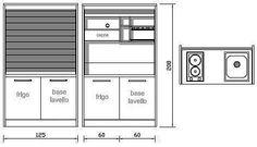 Monoblocco cucina, ante a serrandina, L 125