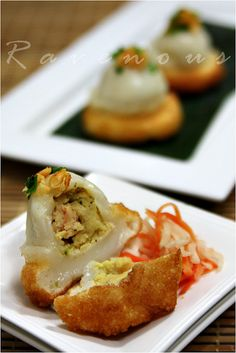 Vietnamese Banh It Ram (Fried Mochi Dumplings Filled with Pork, Shrimp and Mung Beans)
