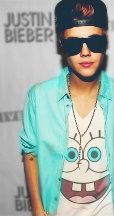 nice shirt Biebs and that is swag