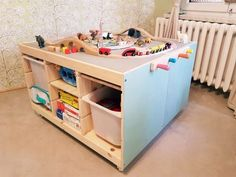 Fantastic Totally Free DIY Spieltisch - Ikea Hack - Aufbruch zum Umdenken Concepts An Ikea kids' space remains to fascinate the little ones, because they are offered a lot more tha Ikea Hack Kids, Ikea Hacks, Ikea Kids Table, Trofast Hack, Ikea Playroom, Best Ikea, Storage Spaces, Kids Room, Nursery