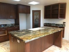 Arizona Tile Desert Canyon is quarried from a bedrock canyon in Brazil, this granite will range from brown and gold, to blue and gray, all within the same slab. Granite Slab, Quartz Countertops, Rich Colors, Aerial View, Cool Kitchens, Backsplash, Showroom, Don't Forget, Kitchen Remodel