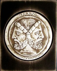 Janus - the Roman god - mythology corrupted the legend of Noah into worship of him as Oannes, the fish-man god and also as Janus, the god who could look back (to the pre-flood world) and forward (to the post-flood world) Roman Gods, Biblical Art, Janus, Black Gift Boxes, Greek Words, Two Faces, Vanitas, Praise And Worship, Gods And Goddesses
