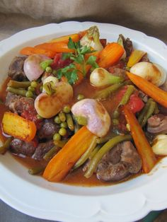 One Pot Dishes, Main Dishes, Crockpot Recipes, Healthy Recipes, Lamb Stew, Pause, Pot Roast, Food Videos, Food Porn