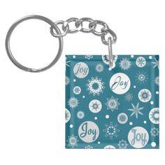 Joy Keychain - christmas keychains family merry xmas personalize gift idea