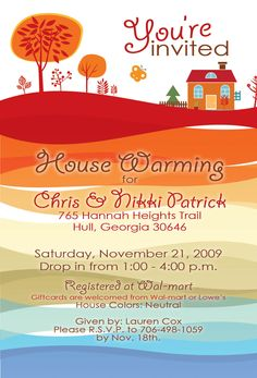 sample house warming invitation | House Warming Invitation - Designs by Lauren Cox