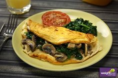 healthy omelette recipe for weight loss Delicious Breakfast Recipes, Healthy Soup Recipes, Salad Recipes, Healthy Omelette, Omelette Recipe, Mushroom Omelette, Cordon Bleu, Appetisers, Food Presentation
