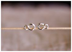 infinity ear studs sterling silver infinity by karlasdesign, $11.00