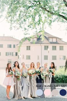 Mix and Match Bridesmaid Dresses by Colours   http://www.fabmood.com/mix-and-match-bridesmaid-dresses-by-colours #bridesmaids