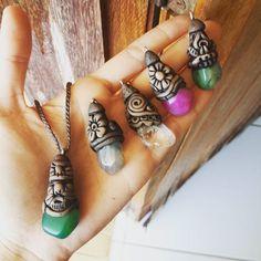 #colar #pedras #massaepoxi #durepox #hippie