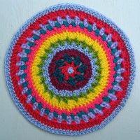 Crochet Mandala Wheel made by Beth, Australia, for yarndale.co.uk