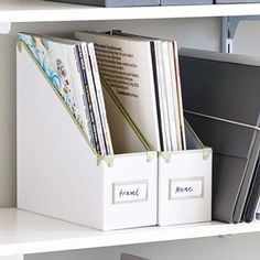 Magazine File In White/Fog   Frisco Collection By Design Ideas U2013 3060631 U2013  Organize