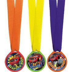 Medalhas com desenho do Blaze.