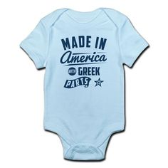 Made in America With Greek Part Body Suit