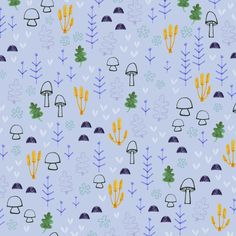 Mini mushroom pattern - children illustration and pattern design by Laurence Lavallée aka Flo