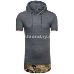Pánske tričko tmavo sivej farby s kapucňou - fashionday.eu Ale, Athletic, Hoodies, Sweaters, Jackets, Fashion, Moda, Sweatshirts, Athlete