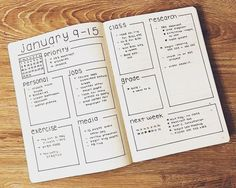 Tons of Bullet Journal Weekly examples to help you organize your life | Zen of Planning | Planner Peace and Inspiration: