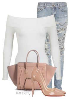 """Untitled #1496"" by whokd ❤ liked on Polyvore featuring Yves Saint Laurent, Miss Selfridge and Christian Louboutin"