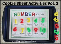 Cookie Sheet Activities Pre K- Kindergarten Bundle!