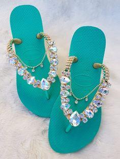 Flip Flops Diy, Flip Flop Craft, Designer Flip Flops, Beaded Shoes, Bold Necklace, Waterproof Shoes, Designer Sandals, Buy Shoes, Custom Shoes