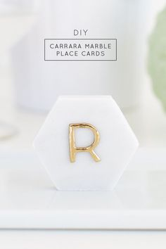 One Minute DIY Carrara Marble Place Cards