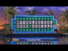Who says reading isn't fundamental? Wheel Of Fortune FAIL - Mythological Hero Achilles!!! - YouTube