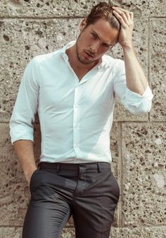 men shirts - Compare Price Before You Buy Fashion Moda, Men's Fashion, Stylish Men, Men Casual, Costume Sexy, Poses For Men, Herren Outfit, Sport Chic, Gentleman Style