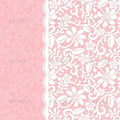Wedding Invitation or Greeting Card with Lace #GraphicRiver Wedding invitation or greeting card with lace border. Vector illustration, fully editable, vector objects separated and grouped.