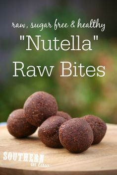 Nutella Raw Bites Recipe - Gluten Free, Sugar Free, Freezer Friendly, Clean Eating Friendly, Raw, Vegan