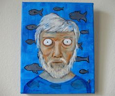 The Old Man and the Sea - Original Oil Painting on Canvas by kellygormanartwork on Etsy