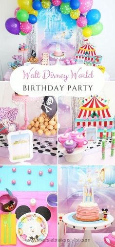 Bring Walt Disney World to your party with this Disney World inspired theme!