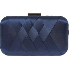 Navy Satin Clutch Bag - Gifts for the Accessory Collector - Christmas Gifts - Christmas - TK Maxx Leather Clutch, Clutch Bag, Tk Maxx, Real Leather, Christmas Gifts, Satin, Navy, Crystals, Stuff To Buy