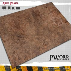 Gaming mats for wargames representing a a dry rocky plain, an ideal location for battles on a barren and desolate landscape.
