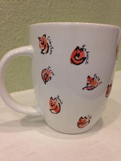 Fox fingerprint mug. This was our teacher gift this year.