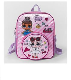 2PK LOL Surprise Glitterati Kids Children Hair Accessories Hair Elastic Tie//Clip