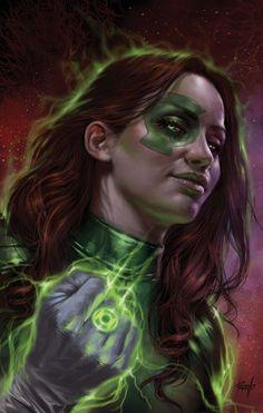 Justice League Odyssey Variant Cover by Lucio Parrillo : DCcomics Comic Book Characters, Comic Books Art, Comic Art, Book Art, Green Lantern Corps, Green Lanterns, Justice League Poster, Earth 3, Jessica Cruz Green Lantern